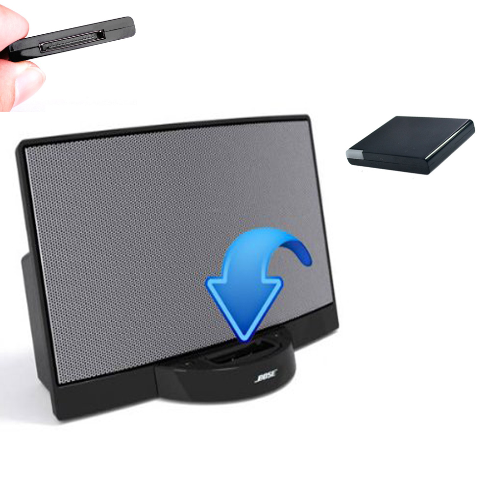 bluetooth music audio receiver adapter a2dp for ipod. Black Bedroom Furniture Sets. Home Design Ideas