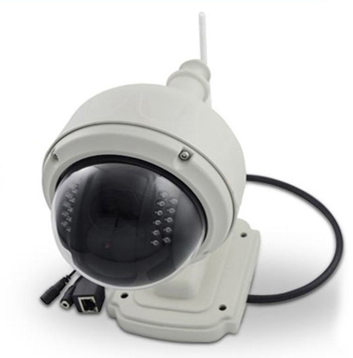Wireless IP WIFI Outdoor PT Dome Security Network Camera