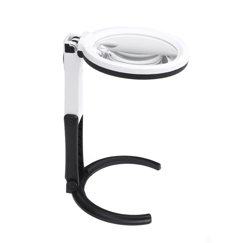 desk handheld table lamp with 2 5x 8x magnifier glass light new ebay. Black Bedroom Furniture Sets. Home Design Ideas