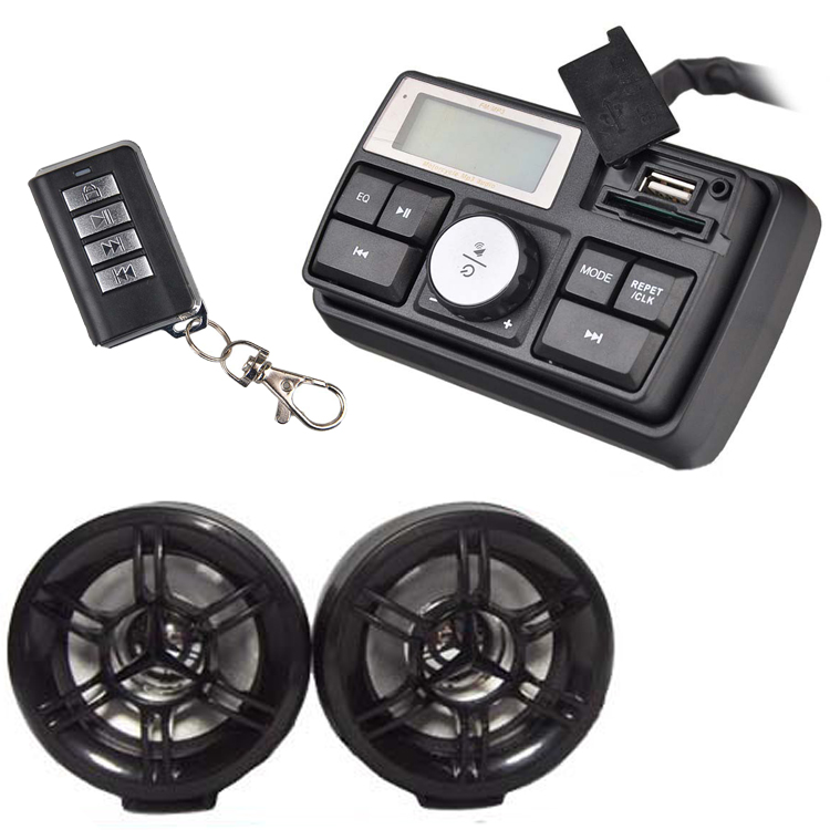Motorcycle waterproof audio system usb sd fm radio stereo - Waterproof sound system for bathroom ...