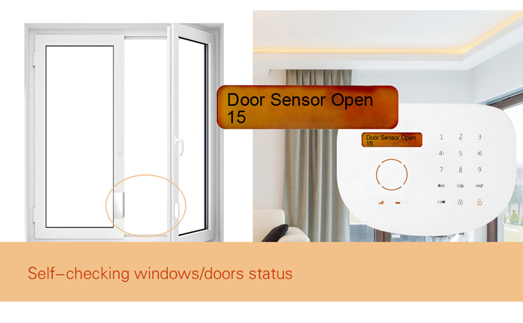 New app control touch keypad wireless gsm sms home house for Buy house alarm system